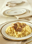 Risotto with truffles on plate