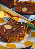 Chocolate banana cake with cornflake crust