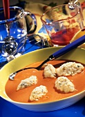 Tomato soup with dumplings (Vampire's dumpling soup)