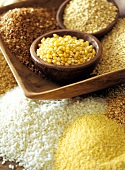 Various Types of Grains and Rice
