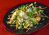 Kyoto salad with avocado, sprouts and corn salad