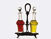 Vinegar and oil bottles