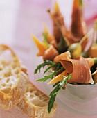 Carote, rucola e prosciutto (Parma ham & carrots with rocket)