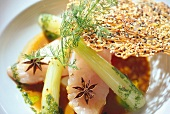 John Dory fillet with fennel and star anise