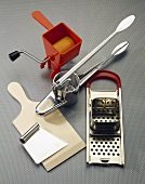 Equipment for pasta-making, spaetzle cutter & potato ricer