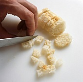 Dicing bread for croutons