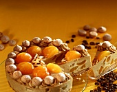 Amarettini gateau with apricots and espresso