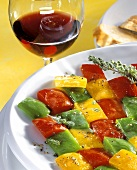 Peperonata al timo (Mosaic of peppers with thyme)