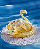 Chiemsee swans in choux pastry with vanilla cream