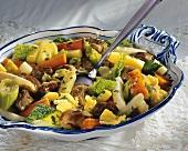 Münchner Allerlei mit Gemüse, Fleisch und Petersilie