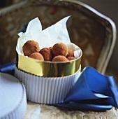 Truffle pralines in gift box