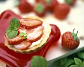 Strawberry fancy with fresh mint leaves