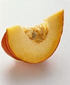 A slice of orange pumpkin