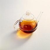 Tea in a glass pot