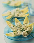 Chicory and sauerkraut salad with chives