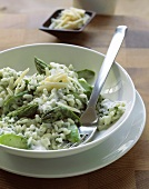 Risotto agli asparagi (Risotto with green asparagus & cheese)
