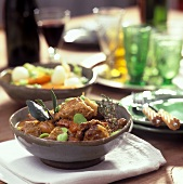 Lamb ragout with beans and herbs