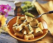Gnocchi alla salvia (Potato dumplings with sage, Italy)