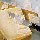 Parmesan with parmesan shavings