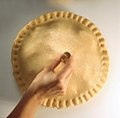 Making a hole in the middle of a pie