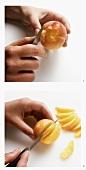 Pfirsich filetieren