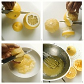 Segmenting and squeezing grapefruit
