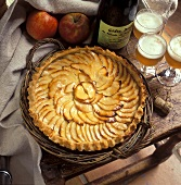 French apple tart with cider