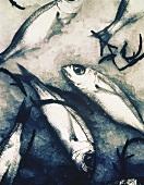 Fish on crushed ice