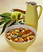 Turnip and potato stew with sweet chestnuts