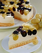 Grape with wine mousse