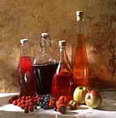 Various fruit and berry wines