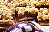 Plum cake with crumble