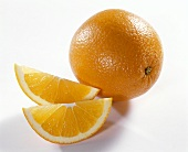 Orange and two orange slices
