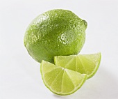 Lime and lime wedges