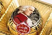 Salzburg Mozartkugel (chocolate) with marzipan filling