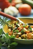 Mediterranean vegetables with fresh parsley