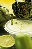 Artichokes with lime dip