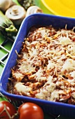 Courgette lasagne with mince, tomatoes and cheese