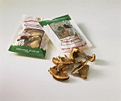 Dried ceps with packaging