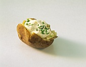 Baked potato with chive quark