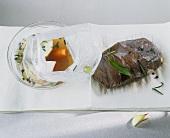 Dabbing marinated beef dry