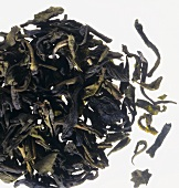 Green Assam tea leaves