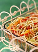 White cabbage salad with orange and almonds