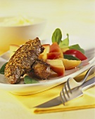 Lamb fillet with apples and sage