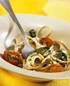 Spaghetti dell'Angela (Spaghetti with Gorgonzola & chard)