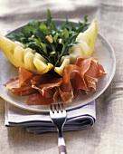 Prosciutto e melone con la rucola (Melon & Parma ham)