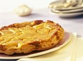 Tarte tatin (turned-out apple tart with caramel, France)