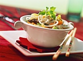 Chinese noodle soup with pork