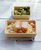Cod parcels with salmon casing with creamed potatoes