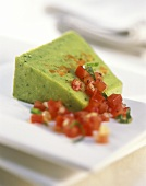 Asparagus and carrot terrine with tomato vinaigrette